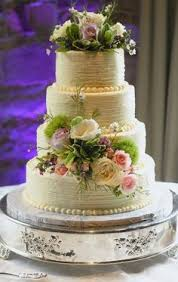 Rustic Buttercream Wedding Cake Like This With Different Or Less Flowers