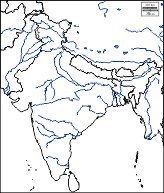 The Map Showing Hills And Rivers