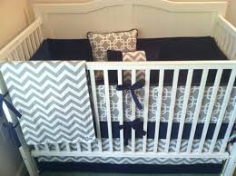 Nursery Beddings Navy And White Crib Bedding Set Plus Navy And