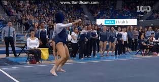Lsu Gymnastics Hip Hop Floor Routine by Watch Ucla Gymnast Sophina Dejesus Whip Nae Nae And Dab To