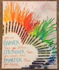 Custom Heart Shaped Crayon Art On Canvas With Or Without Quote