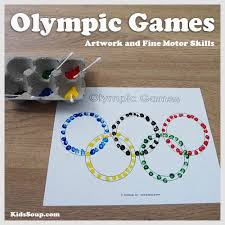 Free Preschool Olympic Games Craft And Fine Motor Skill Activity