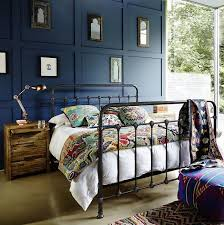 Industrial Bedroom Furniture Black Metal Gaslight Bed More