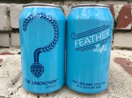 Unknown Brewing unveils can design for Feather Light