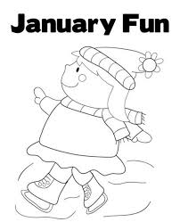 Winter Coloring Pages Printable January Fun