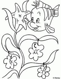 Coloring Pages Printable Print Book Fish Starfish Flower Inside Nemo Large Kids Crayola White Black Line