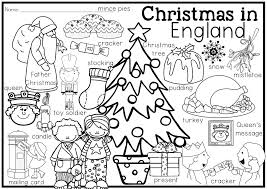 Christmas Around The World Vocabulary And Coloring Pages