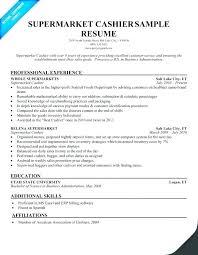Retail Head Cashier Resume Sample Example Of Description