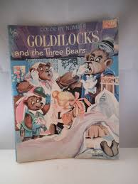 Vintage Coloring Book Color By Number Goldilocks 3 Bears Twinkle Books Inc 1962