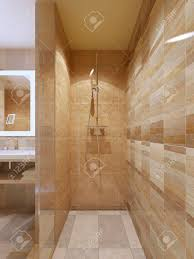 100 In Marble Walls Hightech Shower In Bathroom With Marble Tile Walls Glass Doors
