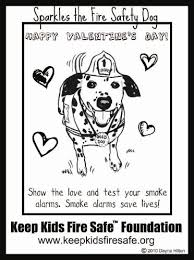 Valentines Day Coloring Page Right Click On The Sparkles Fire Safety Dog To Save Your Computer Then Print Very Own