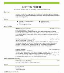 88M Motor Transport Operator Resume Example Army National Guard