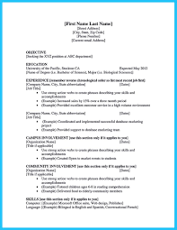 Sample Resume With No Work Experience College Student Regular Best Current