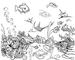 Tropical Fish Tank Coloring Page