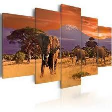 wandbilder afrika savanne elefant ethno leinwand bilder