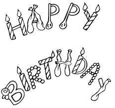Birthday Coloring Page Happy Sign