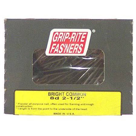 Grip Rite Bright Smooth Shank Common Nail - 6.4cm