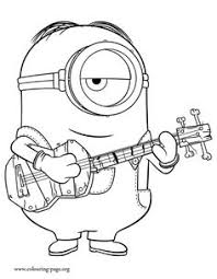 Print And Color This Minions Coloring Sheet
