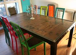 table salle à manger bois et pieds métal table design made in