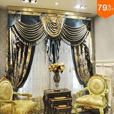 5 sterne hotel zimmer haken stil mit valance vorhang luxus vorhang für wohnzimmer und esszimmer heiligen hotelking vorhang