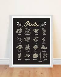 Pasta Print Kitchen Art Italian Food By Bonmotprints Pepes RestaurantItalian Restaurant DecorRestaurant