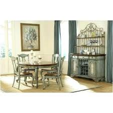 Macys Dining Table Set Hand Painted Room Tables Round