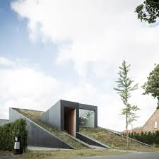 100 Split Level Project Homes OYOs House Pibo Features A Sloping Green Roof And Split Levels