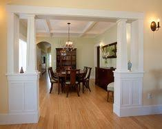 The Formal Dining Room Has Same Tapered Craftsman Columns At Its Entry And Is