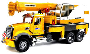BRUDER TOYS MACK Granite Liebherr Crane Truck 02818 Kids Play NEW In ...