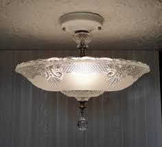 bedroom lighting wayfair lighting vintage 30 s art deco glass