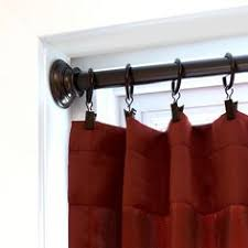 Menards Curtain Rod Finials by 3 4 In Diameter Heavy Duty Tension Curtain Rod Lock And Fit