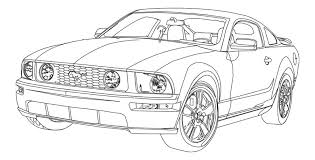 Ive Been Browsing Around Here And Looking At A Lot Of Mustang Pictures Lately Big Fan The Stang 06 Line Art