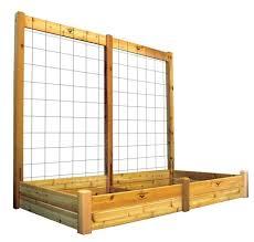 gronomics 48wx95lx80h finished 2 tier raised garden bed w trellis