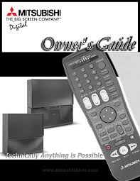 mitsubishi electronics projection television ws 65869 user guide