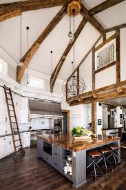 100 Exposed Joists Stunning Country Kitchen Features A Doubleheight Vaulted