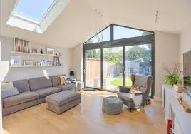 Extension To 1930s Semi Contemporary Living Room