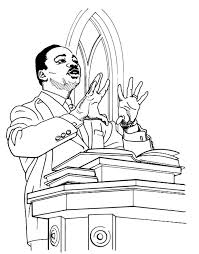Black History Coloring Pages Luther King
