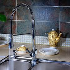 kitchen faucet with color changing led light solid brass