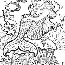 Amazing Drawing Of Mermaid Coloring Pages