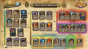 infographic the control warrior by kerdane hearthstone