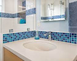 inspiring blue and white bathroom accessories white glossy sink