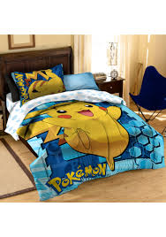 Pokemon Pikachu Twin Full forter with Pillow Set