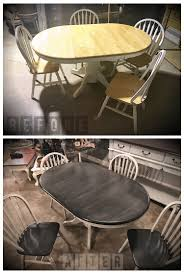 Transform Your Outdated Double Pedestal Oak Table And Chairs ... Original Vintage Ercol Chairs And Oak Table In Charnwood Fr Excellent Antique Round Ding Room Table Fniture How To Pick The Right Chair Size Style Chairs Casters Home Design Ideas Set Beautiful Richmond Extending 4 Reclaimed Ding With Assorted Tips For Pating A A Mess 33 Best Kitchen Tables Modern 40 Glass To Revamp With From Rectangle Solid Oak 5x3ft Monks Bench 20 55 Decorating Designs