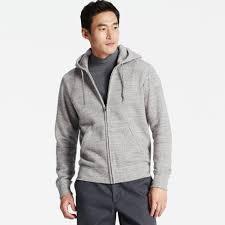 men sweat long sleeve full zip hoodie uniqlo us