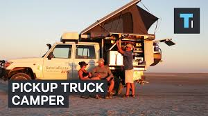 100 Pickup Truck Camper This 4Person Fits In A
