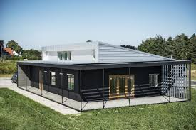 100 Homes Made Of Steel Upcycle House Two Prefabricated Shipping Containers Recycled Soda Cans