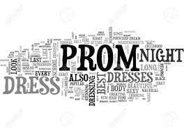 BEST PROM DRESS TEXT WORD CLOUD CONCEPT Stock Vector
