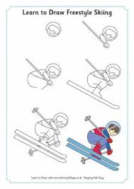 Learn To Draw Freestyle Skiing Winter Olympic Crafts For Kids StayCurious