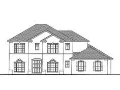 Mediterranean House Plan with 3645 Square Feet and 4 Bedrooms from