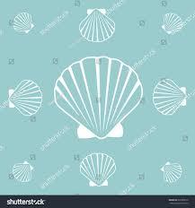 100 Sea Shell Design Vector Pattern Illustration Pearl